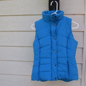 NWT New York & Co Blue puffer vest XS